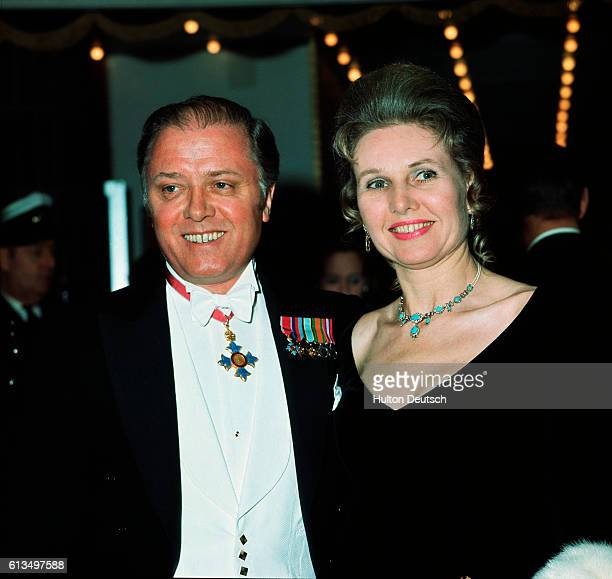 Actor and film director Richard Attenborough with his wife Sheila Sim at the Odeon Leicester Square for the film premier of Anne of the Thousand Days...