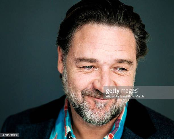 Actor and film director Russell Crowe is photographed for Paris Match on March 24 2015 in Paris France