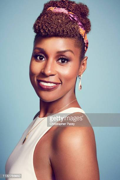 Actor and film producer Issa Rae poses for a portrait at the 2017 Film Independent filmmaker grant and Spirit Award nominees brunch at BOA Steakhouse...