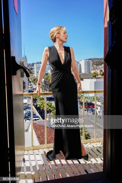 Actor and film producer Julie Gayet is photographed for Paris Match on March 4 2018 in Los Angeles California