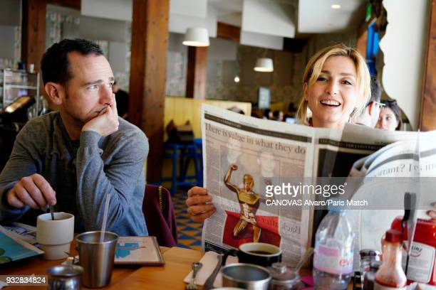 Actor and film producer Julie Gayet is photographed with film director Mathieu Bussonfor Paris Match on March 4 2018 in Los Angeles California