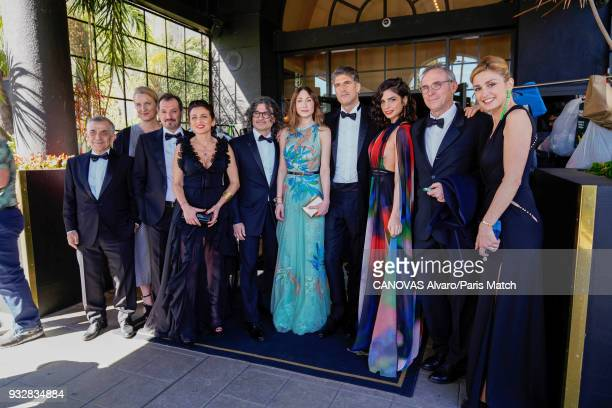 Actor and film producer Julie Gayet with the film crew of L'Insulte by Ziad Doueiri photographed for Paris Match on March 4 2018 in Los Angeles...