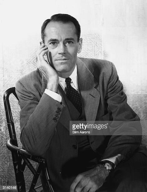 Actor and film star Henry Fonda in New York