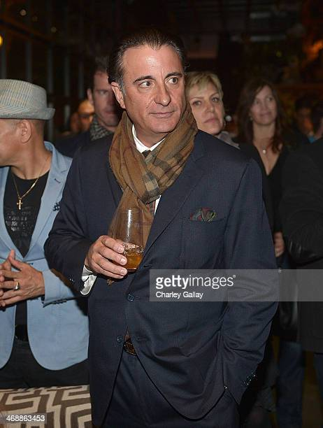 Actor and filmmaker Andy Garcia enjoys a glass of Martell Caractere Martell's newest cognac expression at the launch of the Icons of Caractere...