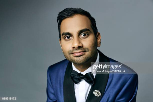 Actor and filmmaker Aziz Ansari is photographed at the 2017 AMD British Academy Britannia Awards on October 27 2017 in Los Angeles California