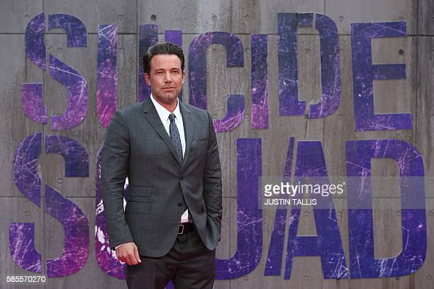 Actor and filmmaker Ben Affleck poses as he arrives to attend the European premiere of the film Suicide Squad in central London on August 3, 2016. /...