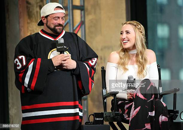 Actor and filmmaker Kevin Smith and actress Harley Quinn Smith speak at AOL Build Presents Kevin Smith and Harley Quinn Smith Discussing Their Film...