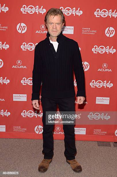 Actor and Filmmaker William H Macy attends the premiere of Rudderless at the Eccles Center Theatre during the 2014 Sundance Film Festival on January...