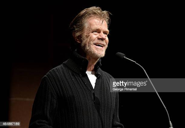 Actor and Filmmaker William H Macy speaks onstage at the premiere of 'Rudderless' at the Eccles Center Theatre during the 2014 Sundance Film Festival...