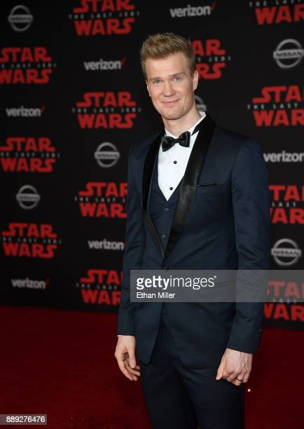 Actor and Finnish basketball player Joonas Suotamo attends the premiere of Disney Pictures and Lucasfilm's 'Star Wars The Last Jedi' at The Shrine...