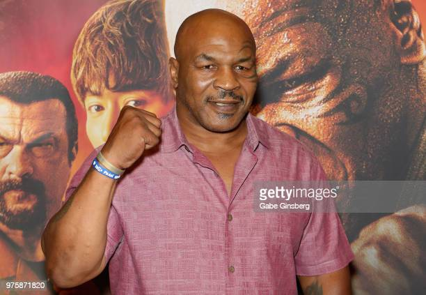 "Actor and former boxer Mike Tyson attends the world premiere of the movie ""China Salesman"" at the Cannery Casino Hotel on June 15, 2018 in North Las..."