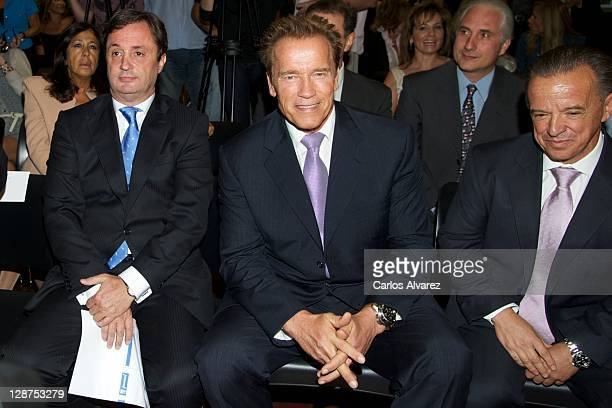 Actor and former California Governor Arnold Schwarzenegger attends Arnold Classic Europe 2011 Party at Jardines Cecilio Rodriguez on October 7 2011...