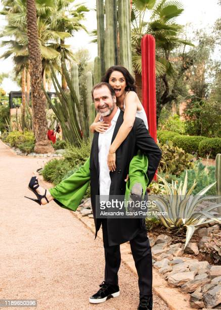 Actor and former footballer Eric Cantona is photographed with his wife for Paris Match at the 18th Film Festival 2019 on December 6 2019 in Marrakesh...