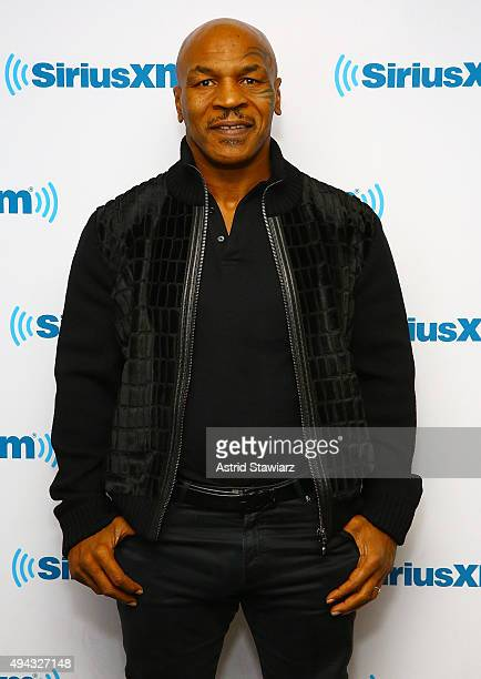 Actor and former former professional boxer Mike Tyson visits the SiriusXM Studios on October 26 2015 in New York City