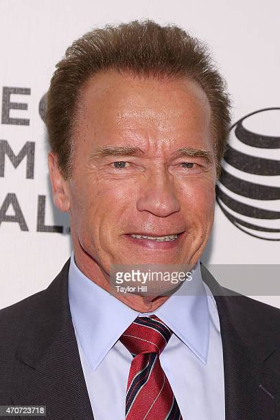 Actor and former governor of California Arnold Schwarzenegger attends the world premiere of 'Maggie' during the 2015 Tribeca Film Festival at BMCC...