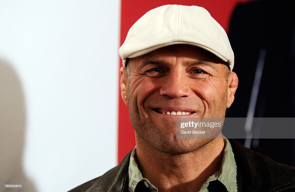 Actor and former mixed martial artist Randy Couture arrives at the premiere of FilmDistrict's 'Parker' at Planet Hollywood Resort & Casino on January 24, 2013 in Las Vegas, Nevada.