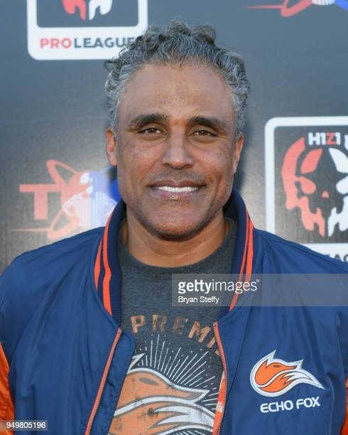 Actor and former NBA player Rick Fox attends opening weekend of the Twin Galaxies H1Z1 Pro League At Caesars Entertainment Studios on April 21 2018...