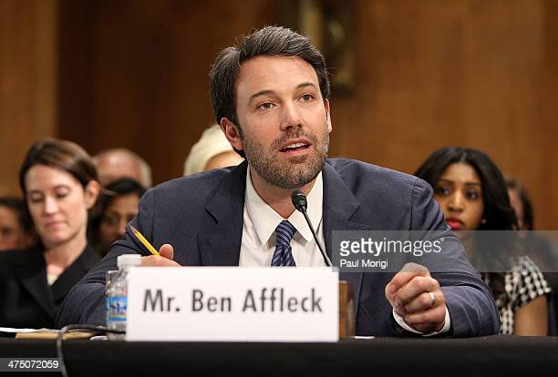 Actor and founder of the Eastern Congo Initiative Ben Affleck testifies at the US Senate Hearing On The Democratic Republic Of Congo at Dirksen...