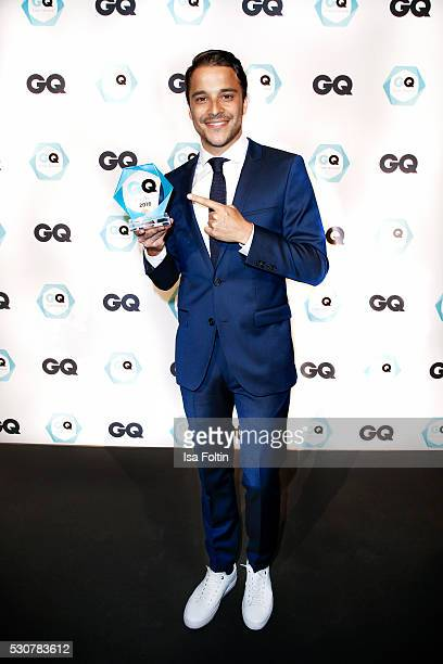 Actor and GQ Care award winner as bestmaintained celebrity Kostja Ulmann wearing Hugo Boss during the GQ Care Award 2016 at The Grand on May 11 2016...