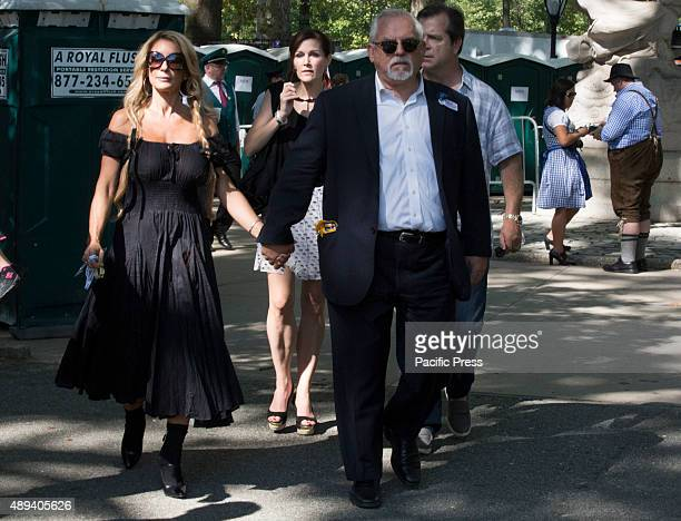 Actor and Grand Marshel John Ratzenberger from Cheers along with his wife Julie Blichfeldt and two of his friends living the GermanAmerican Steuben...