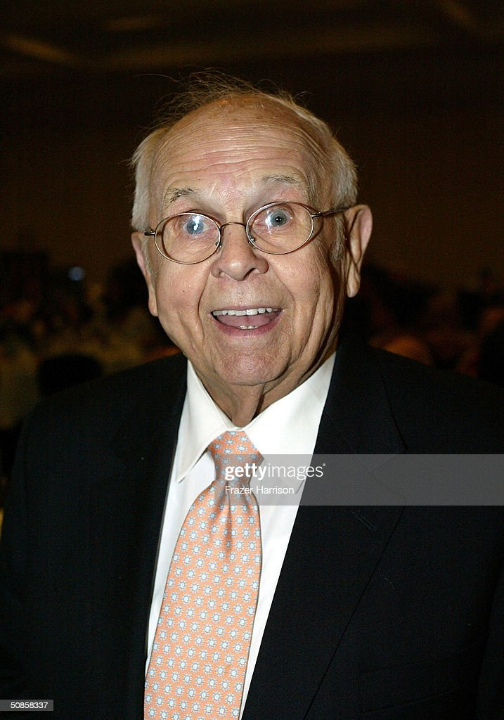 Actor and Honorary Mayor of Hollywood Johnny Grant poses at the VIP luncheon to celebrate the 50th Anniversary of Solters & Digney Public Relations, and its founder Lee Solters, held on May 19, 2004 at the Beverly Hilton Hotel in Beverly Hills, California.