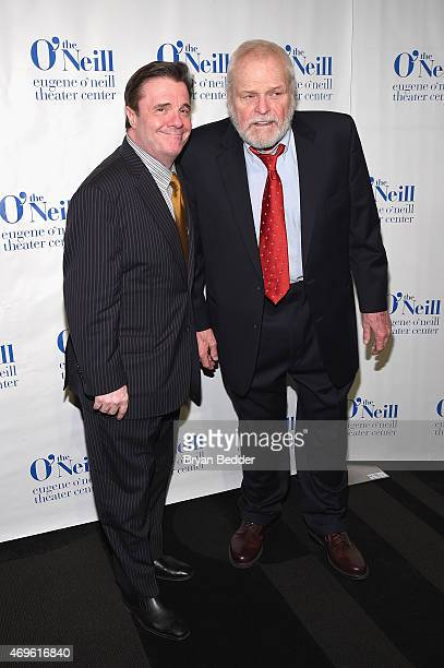 Actor and Honoree Nathan Lane and Brain Dennehy attend the The Eugene O'Neill Theater Center Honors Nathan Lane With 15th Annual Monte Cristo Award -...