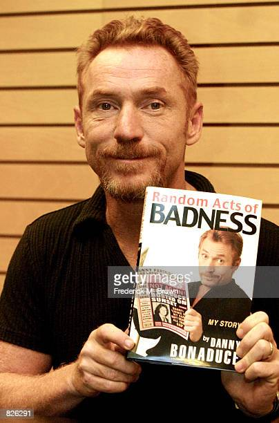 Actor and host Danny Bonaduce attends a bookstore appearance for his new memoir Act of Badness at Barnes and Noble Books November 13 2001 in Los...