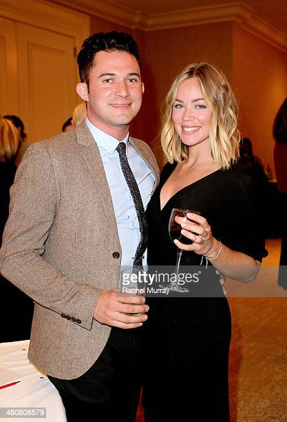 Actor and host Justin Willman and Jillian Sipkins attend the '2014 Families Matter Benefit Celebration' in support of the programs of Friends Of The...