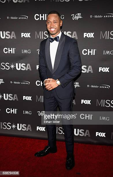 Actor and host Terrence J attends the 2016 Miss USA pageant at TMobile Arena on June 5 2016 in Las Vegas Nevada