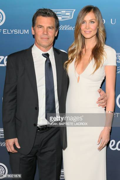 US actor and Josh Brolin and wife US model Kathryn Boyd arrive for the Art of Elysium's 12th annual Gala in Los Angeles California on January 5 2019