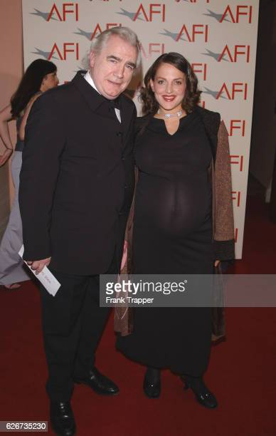 Actor and journalist Brian Cox and wife at the first annual AFI Awards 2001.