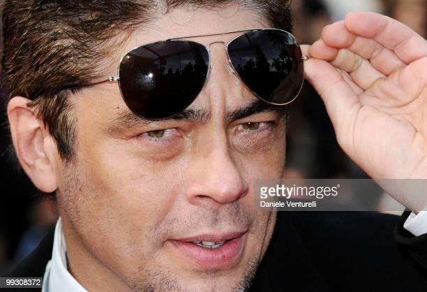 Actor and juror Benicio Del Toro attends the 'Il Gattopardo' premiere held at the Palais des Festivals during the 63rd Annual International Cannes...