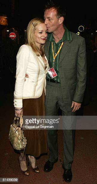 Actor and Jury member Hugo Speer kisses his girlfriend during the opening ceremony of the 15th Dinard Festival Of British Film October 7 2004 in...
