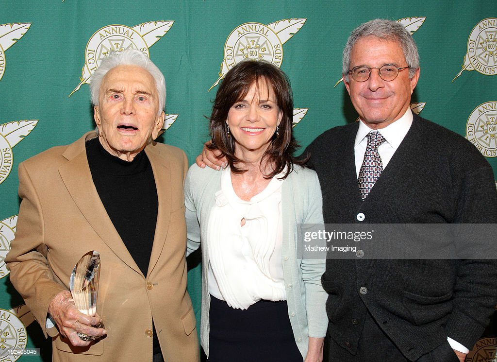 Actor and Lifetime Achievement Award repicpient Kirk Douglas, actress Sally Field and Ron Meyer, President of Universal Studios attend the 50th Annual ICG Publicists Awards which took place at The Beverly Hilton Hotel on February 22, 2013 in Beverly Hills, California.