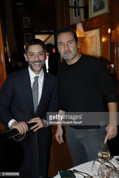 Actor and Master of Ceremonies for the 43rd Cesar Ceremony Manu Payet and Actor and Director Gilles Lellouche nominated for Best Supporting Role for...