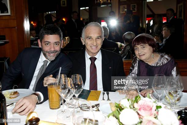 Actor and Master of Ceremonies for the 43rd Cesar Ceremony Manu Payet President of the Academy of Arts and Techniques of Cinema Alain Terzian and...