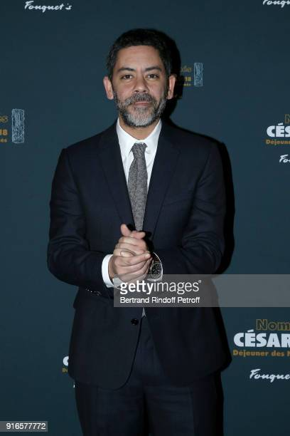 Actor and Master of Ceremonies for the 43rd Cesar Ceremony Manu Payet attends the Cesar 2018 Nominee Luncheon at Le Fouquet's on February 10 2018 in...