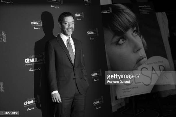Actor and Master of Ceremonies for the 43rd Cesar Ceremony Manu PayetÊ attends the Cesar 2018 Nominee Luncheon at Le Fouquet's on February 10 2018 in...