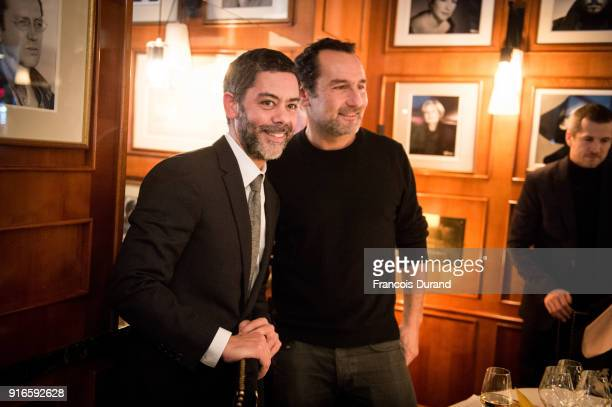 Actor and Master of Ceremonies for the 43rd Cesar Ceremony Manu Payet and Gilles Lellouche Agnes Varda Ê attend the Cesar 2018 Nominee Luncheon at Le...