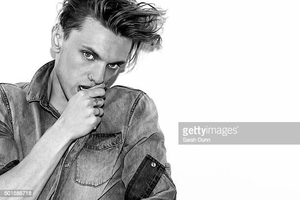 Actor and member of punk rock band Counterfeit Jamie Campbell Bower is photographed for Fault magazine on July 27 2015 in London England