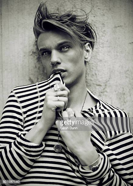 Actor and member of punk rock band Counterfeit, Jamie Campbell Bower is photographed for Fault magazine on July 27, 2015 in London, England.