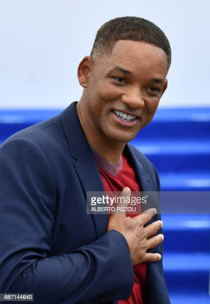 US actor and member of the Feature Film jury Will Smith poses on May 23 2017 during a photocall for the '70th Anniversary' of the Cannes Film...