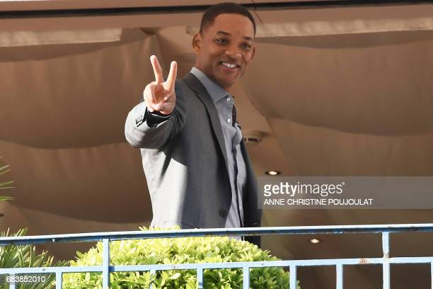 US actor and member of the Feature Film jury Will Smith smiles as he arrives on May 16 2017 at the Grand Hyatt Cannes Hotel Martinez on the eve of...