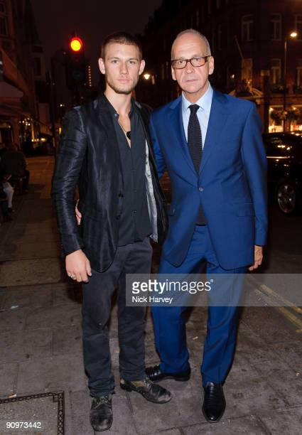 Actor and model Alex Pettyfer and designer Richard James attend the opening of the Kinder Aggugini Camilla Lowther Flash Boutique during London...