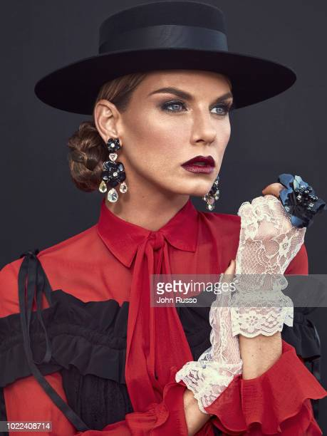 Actor and model Angela Lindvall is photographed for GIO Journal on November 1 2017 in Los Angeles California