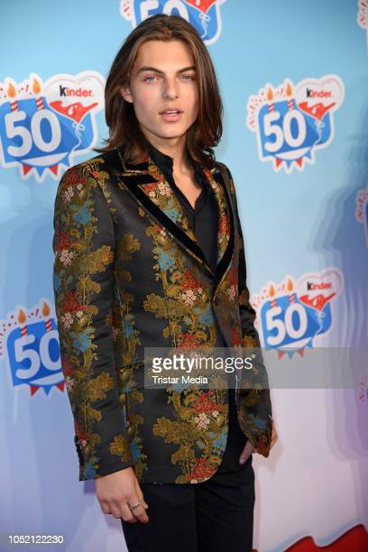 UK actor and model Damian Hurley during the 50th anniversary celebration of the brand Kinder at Heidepark on October 14 2018 in Soltau Germany