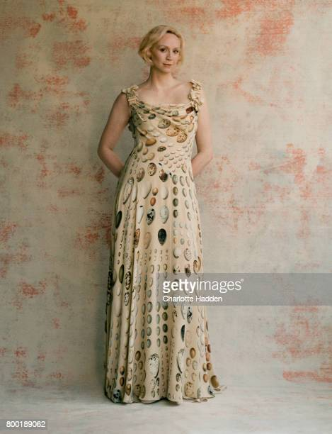 Actor and model Gwendoline Christie is photographed for the Telegraph on July 26 2016 in London England