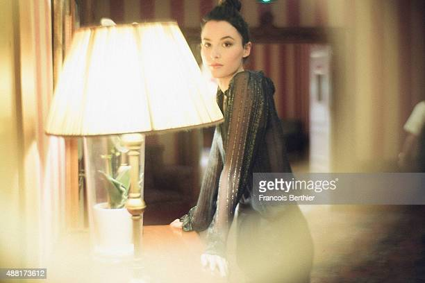 Actor and model Loan Chabanol is photographed on September 6 2015 in Deauville France