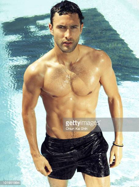 Actor and model Noah Mills at a portrait session for GQ Taiwan in 2010 Published image