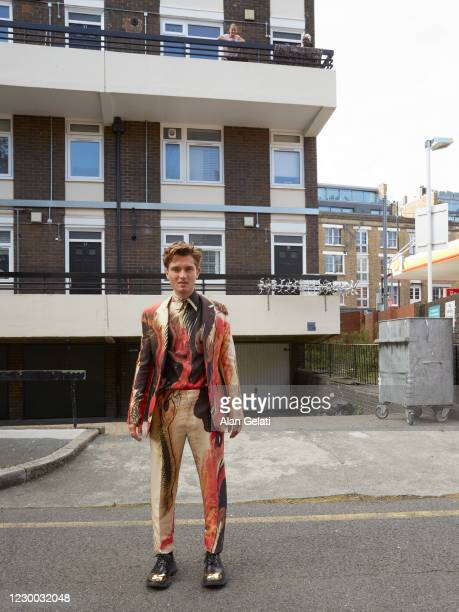 Actor and model Rafferty Law is photographed for L'Officiel Hommes on September 28, 2020 in London, England.
